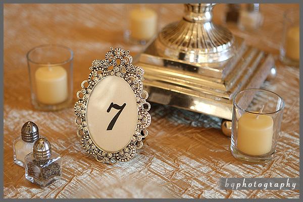 Wedding DIY Vintage Glam Table Numbers