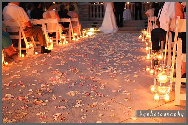blissfully bridal diy candlelit aisle